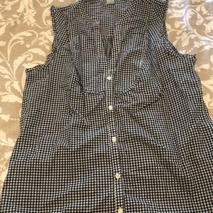 Old navy gingham sleeveless top